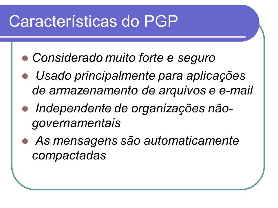 Características do PGP