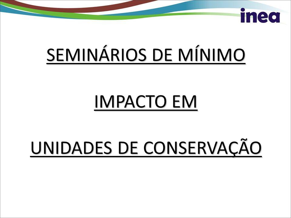 SEMINÁRIOS DE MÍNIMO IMPACTO EM UNIDADES DE CONSERVAÇÃO