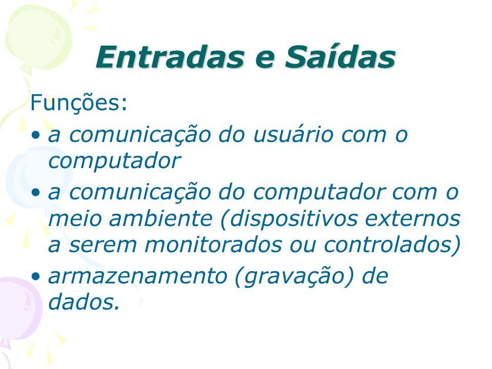 Entradas e Saídas Funções: a comunicação do usuário com o computador
