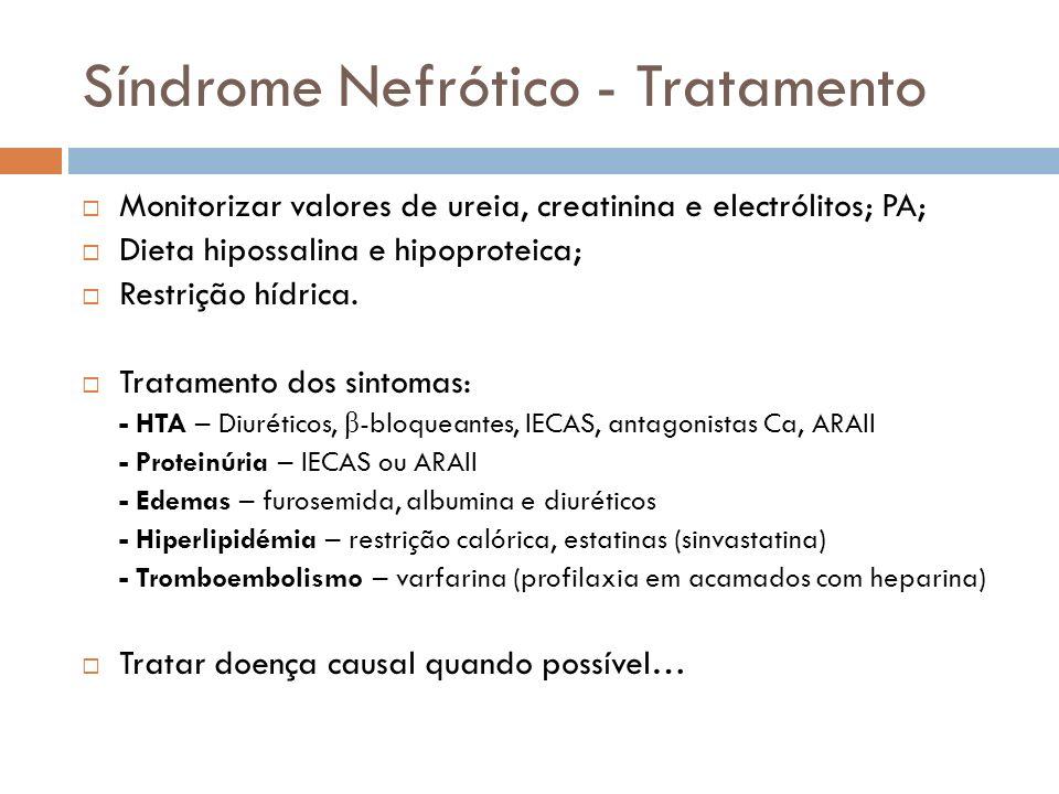 Síndrome Nefrótico - Tratamento