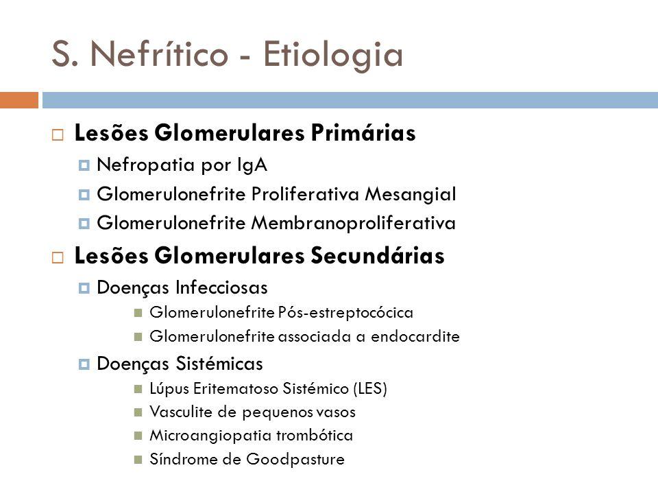 S. Nefrítico - Etiologia