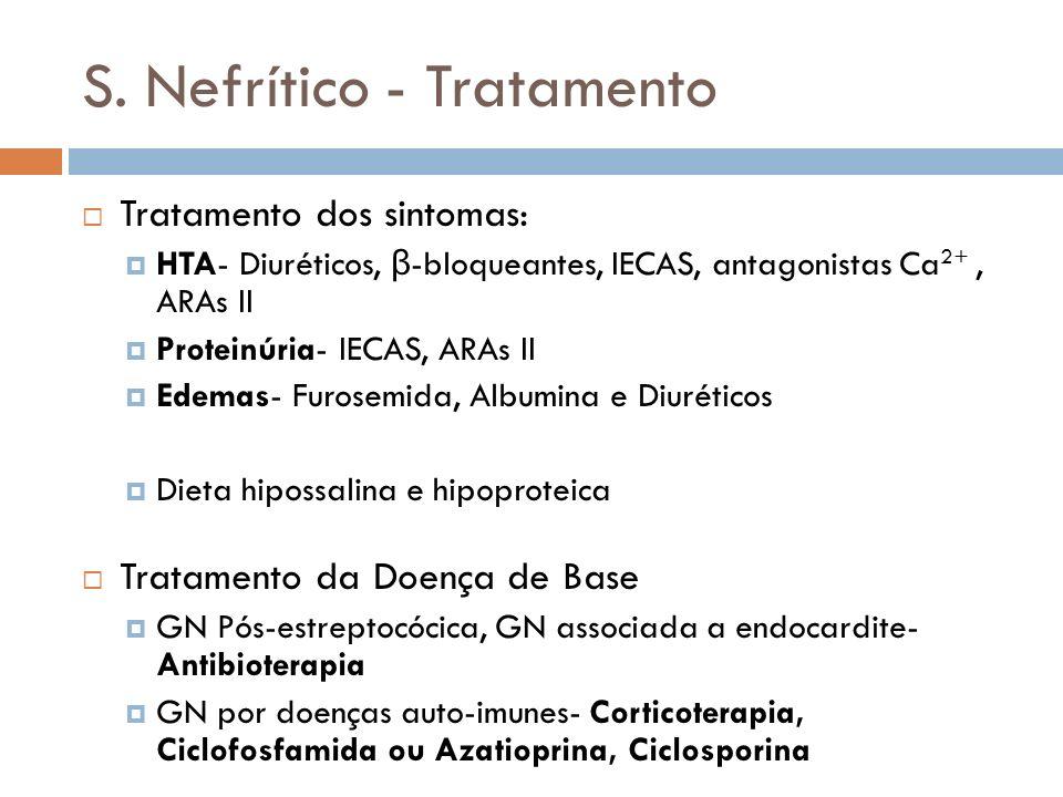 S. Nefrítico - Tratamento