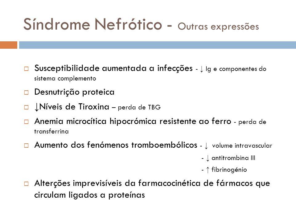Síndrome Nefrótico - Outras expressões
