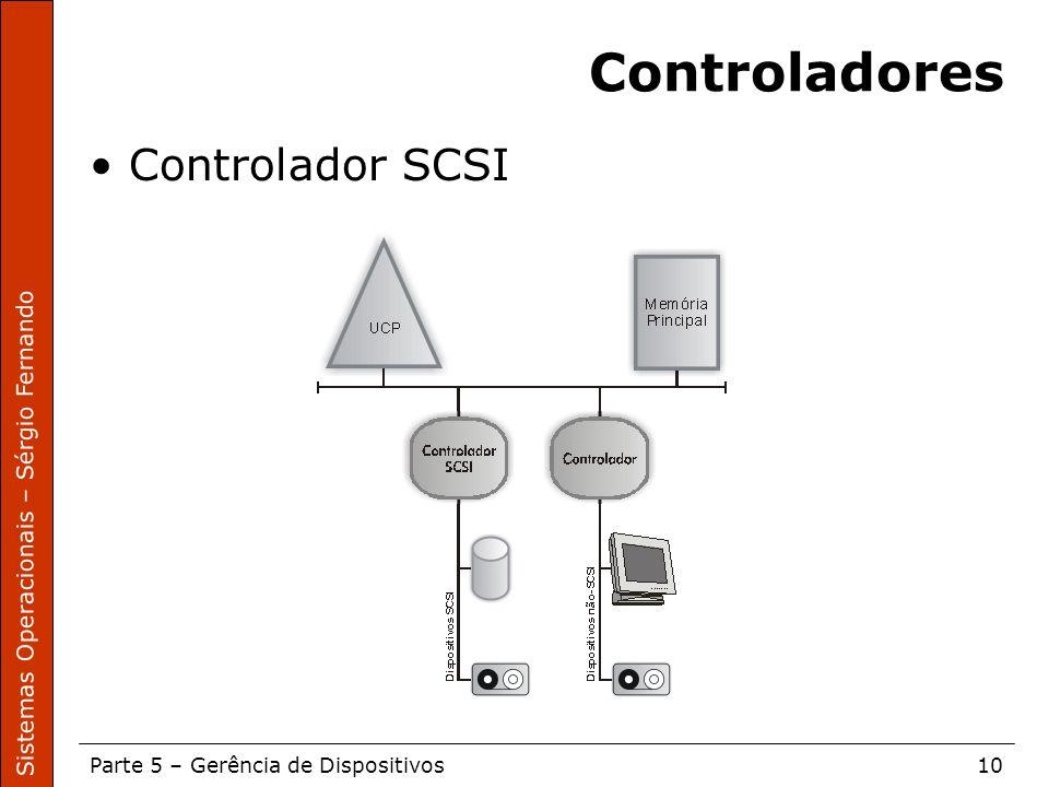 Controladores Controlador SCSI
