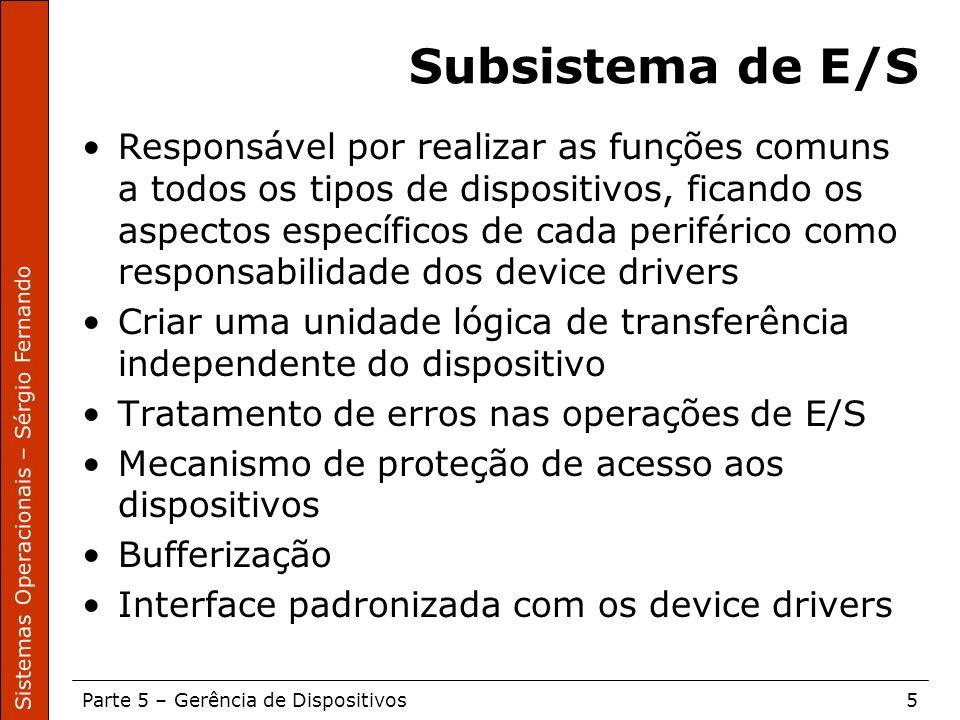 Subsistema de E/S