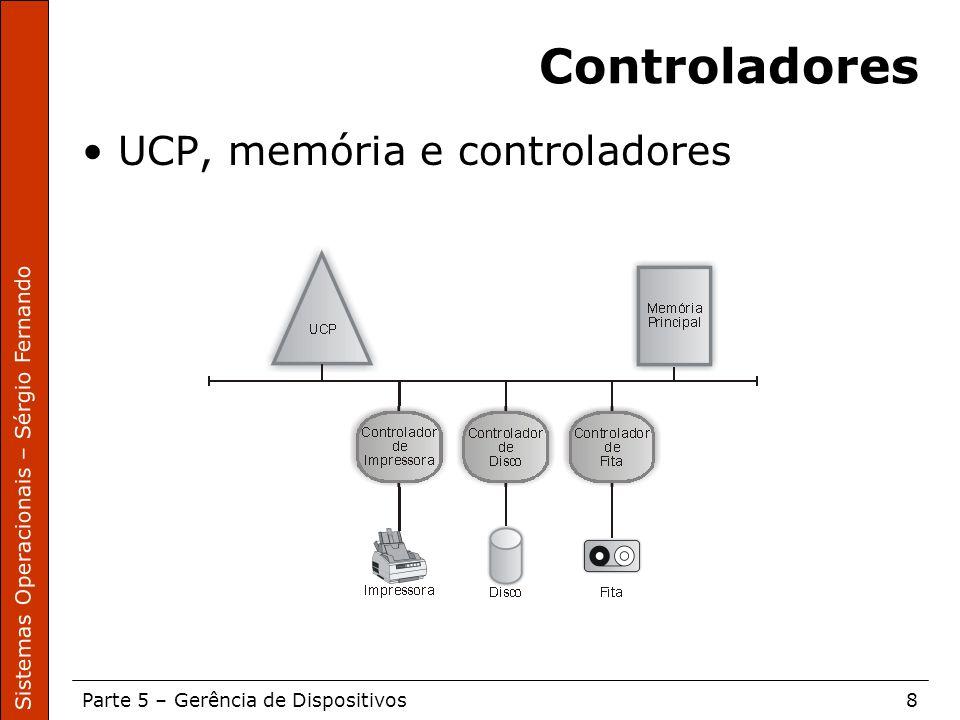 Controladores UCP, memória e controladores