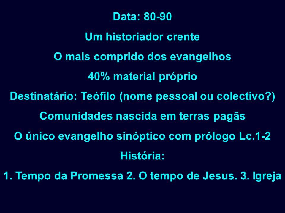O mais comprido dos evangelhos 40% material próprio
