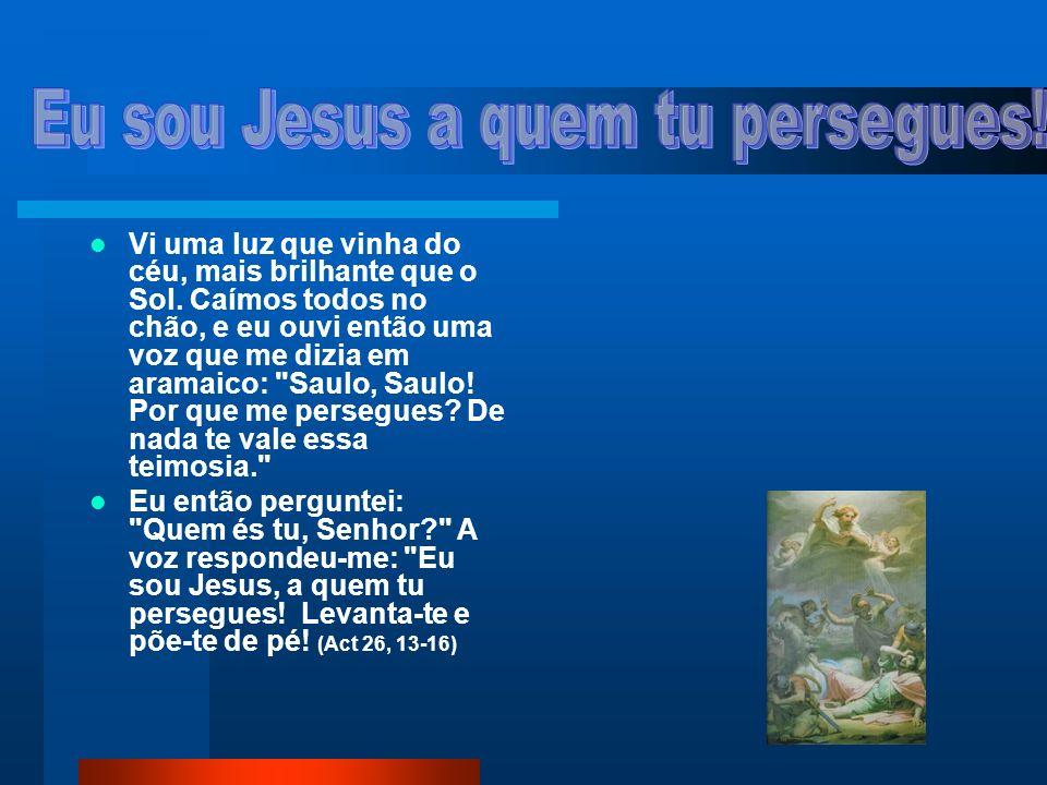 Eu sou Jesus a quem tu persegues!