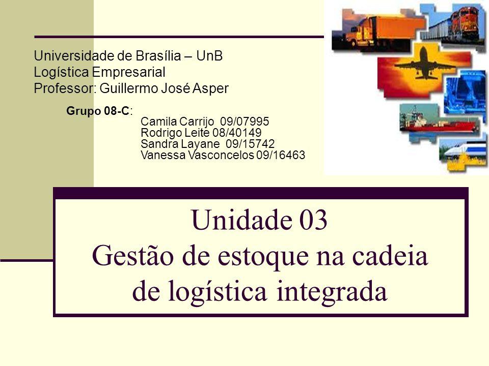 Unidade 03 Gestão de estoque na cadeia de logística integrada