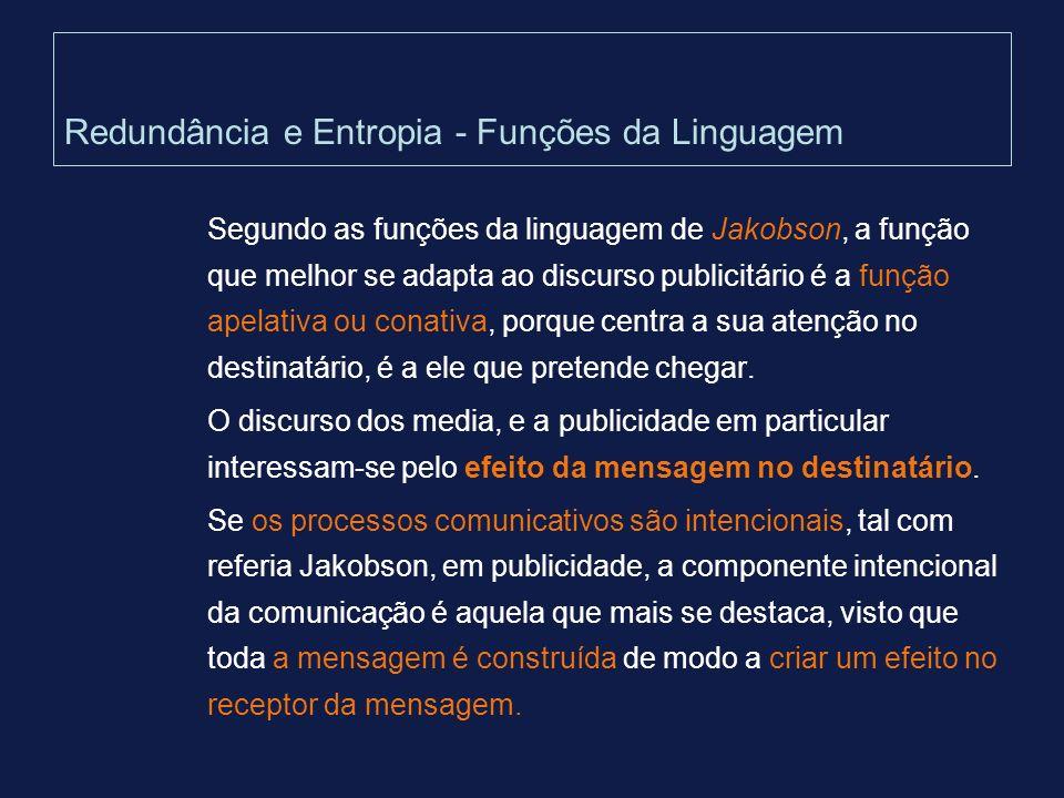 Redundância e Entropia - Funções da Linguagem