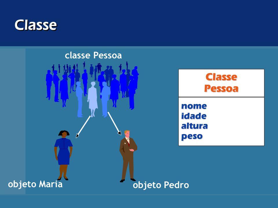 Classe Classe Pessoa classe Pessoa nome idade altura peso objeto Maria