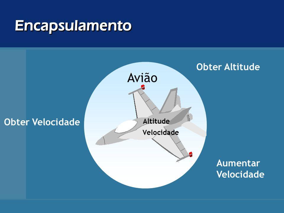 Encapsulamento Avião Obter Altitude Obter Velocidade Aumentar