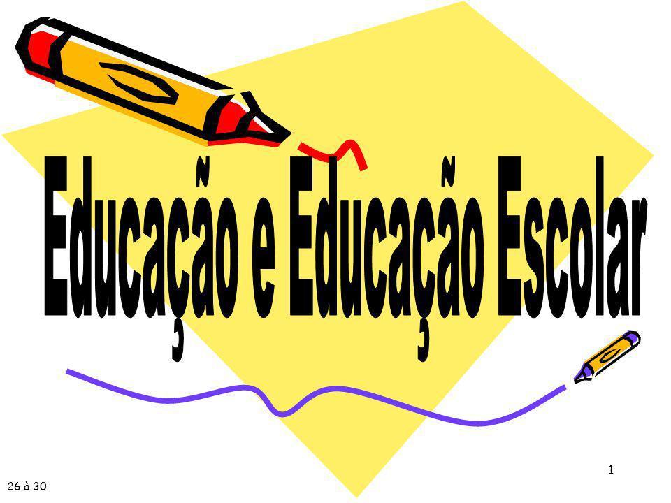Educação e Educação Escolar