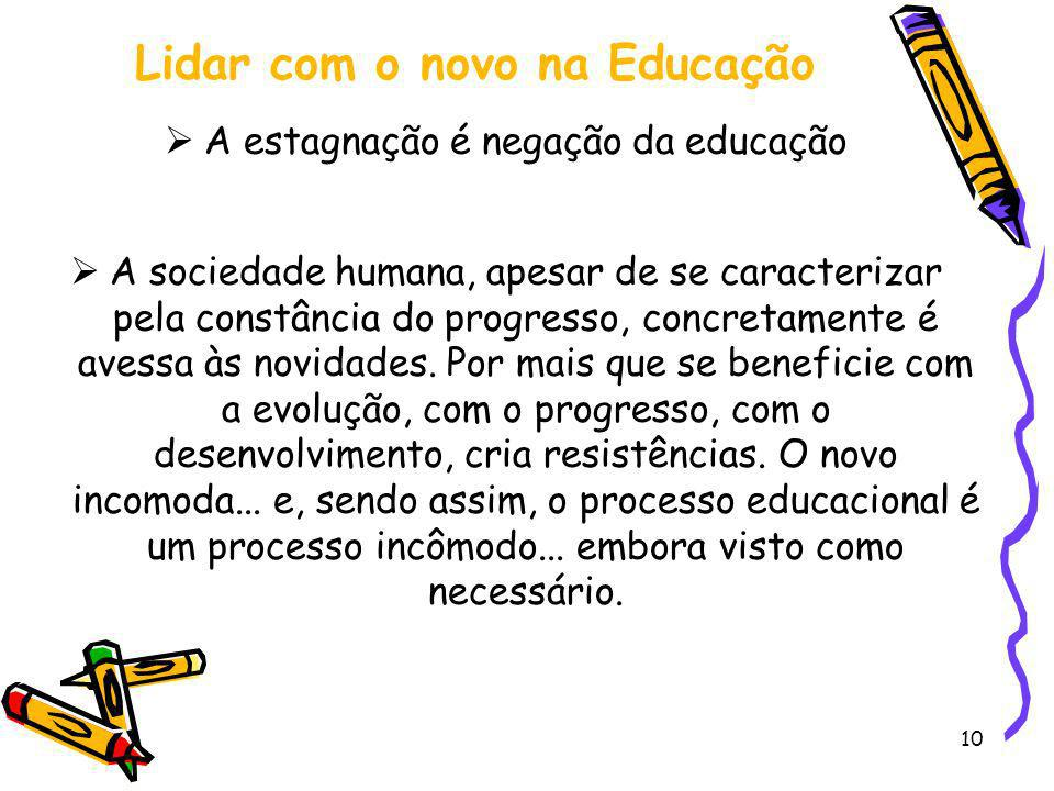 Lidar com o novo na Educação