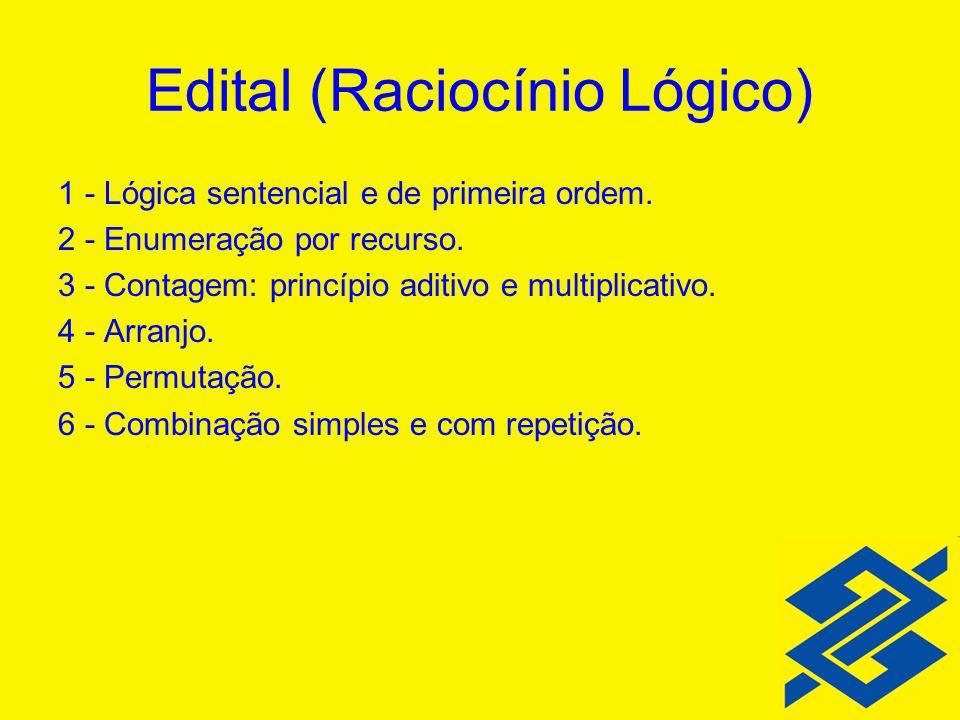 Edital (Raciocínio Lógico)