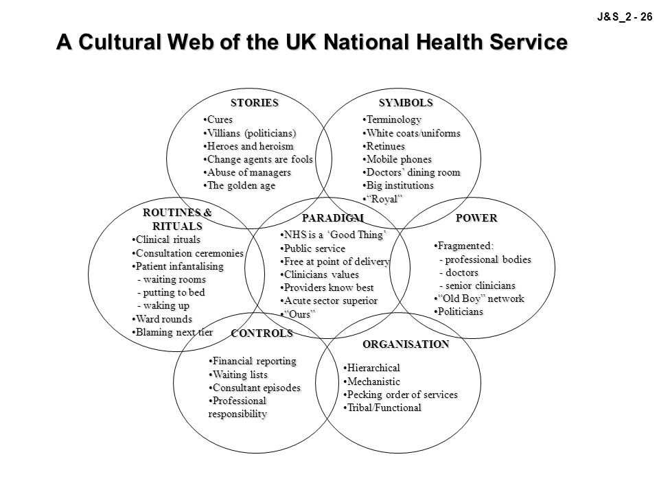 A Cultural Web of the UK National Health Service