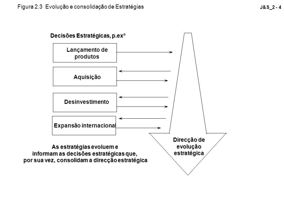 Figura 2.3 Evolução e consolidação de Estratégias