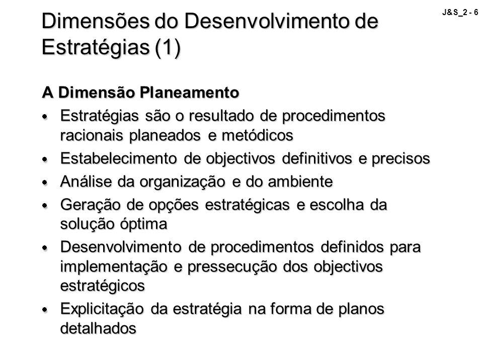 Dimensões do Desenvolvimento de Estratégias (1)