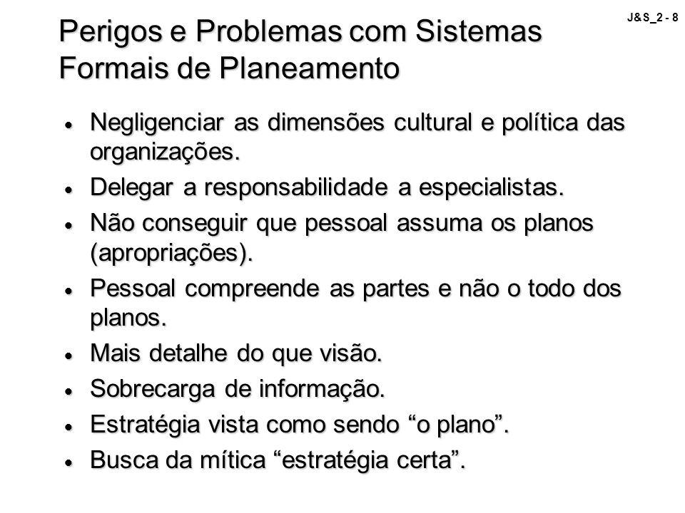 Perigos e Problemas com Sistemas Formais de Planeamento