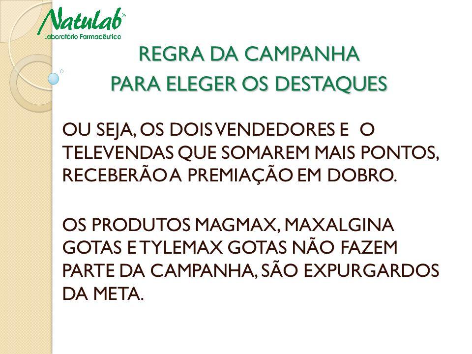 REGRA DA CAMPANHA PARA ELEGER OS DESTAQUES