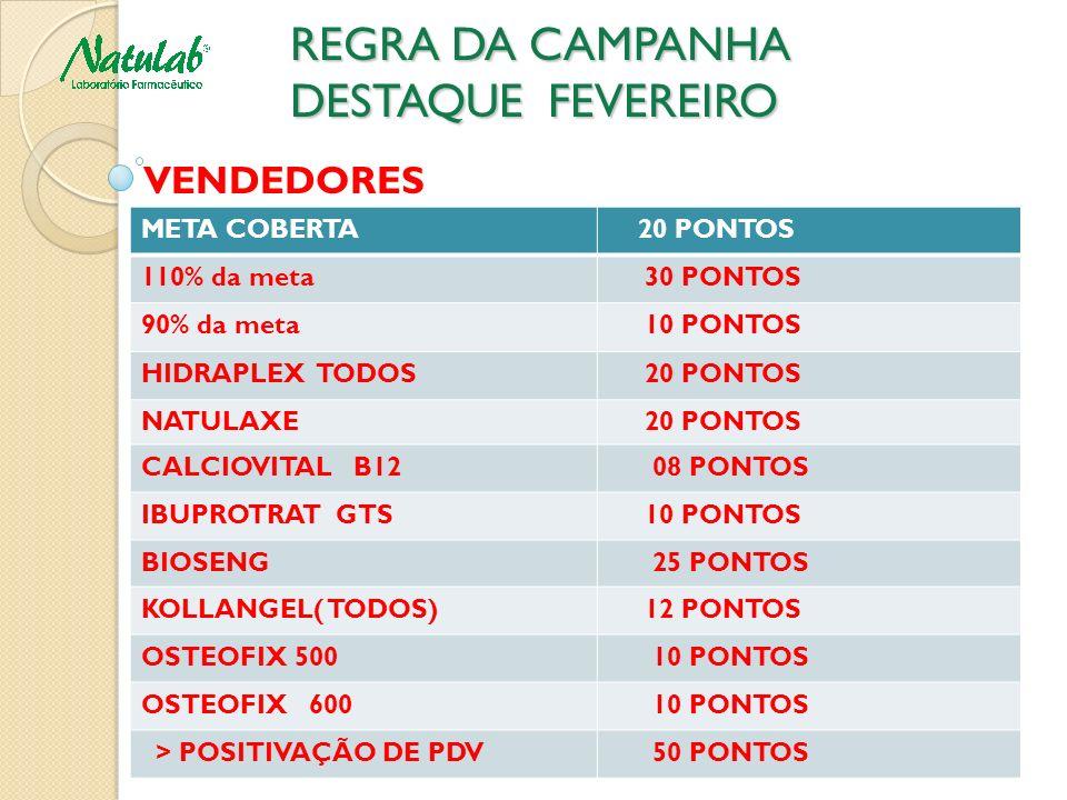 REGRA DA CAMPANHA DESTAQUE FEVEREIRO