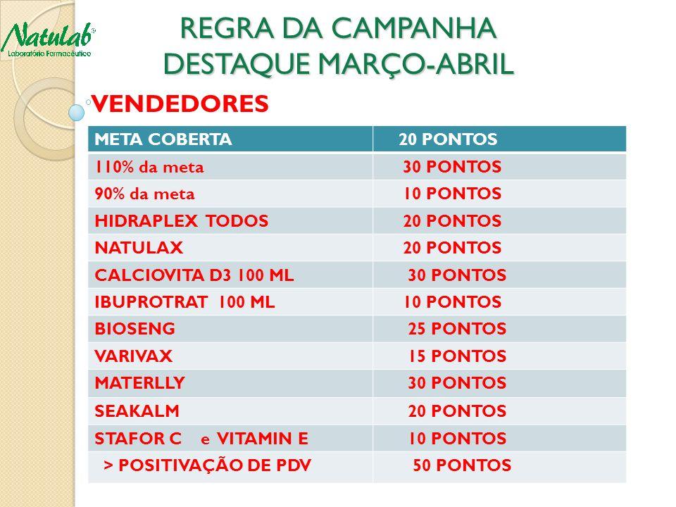 REGRA DA CAMPANHA DESTAQUE MARÇO-ABRIL