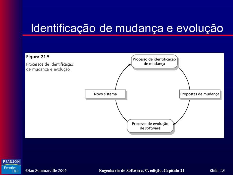 Identificação de mudança e evolução