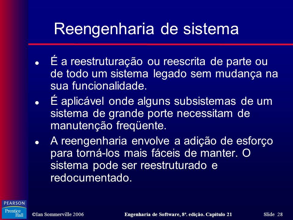 Reengenharia de sistema