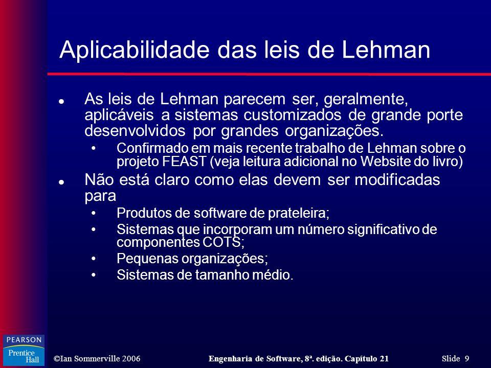 Aplicabilidade das leis de Lehman