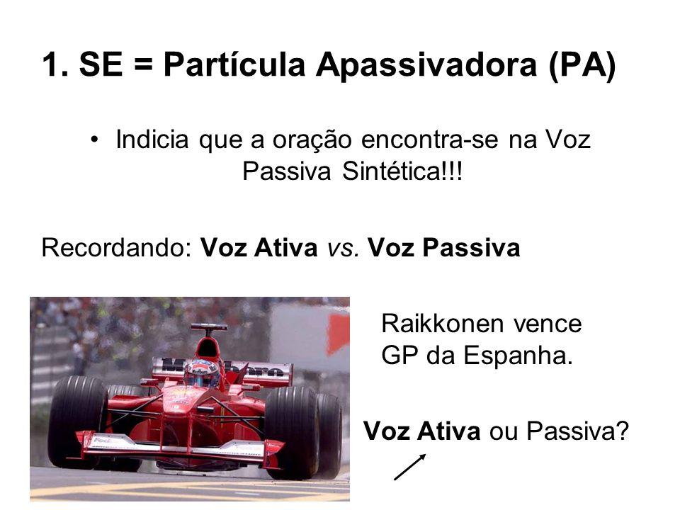 1. SE = Partícula Apassivadora (PA)
