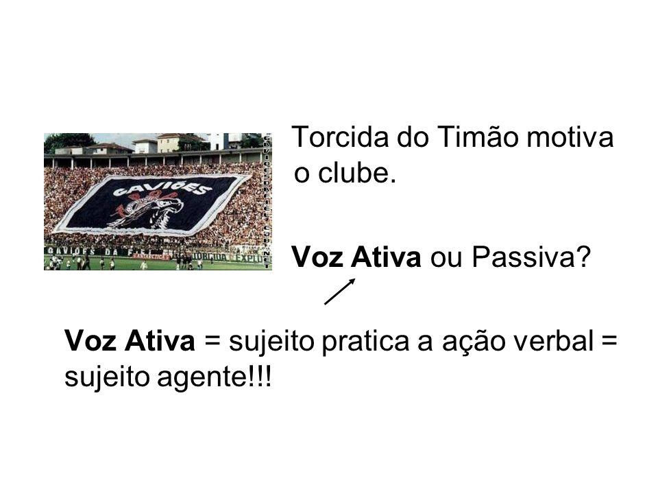 Torcida do Timão motiva o clube.
