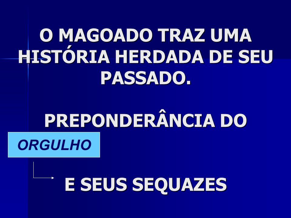 O MAGOADO TRAZ UMA HISTÓRIA HERDADA DE SEU PASSADO
