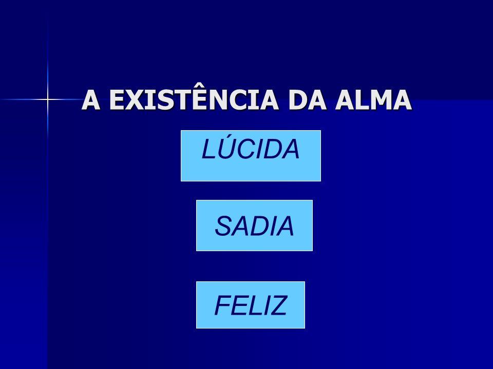 A EXISTÊNCIA DA ALMA LÚCIDA SADIA FELIZ