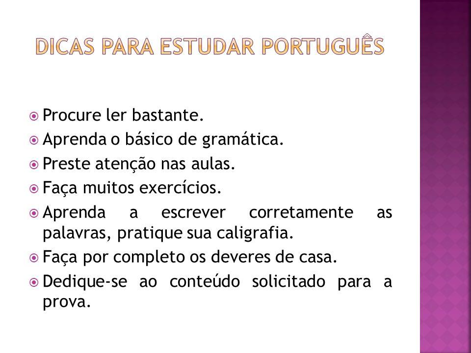 Dicas para estudar português