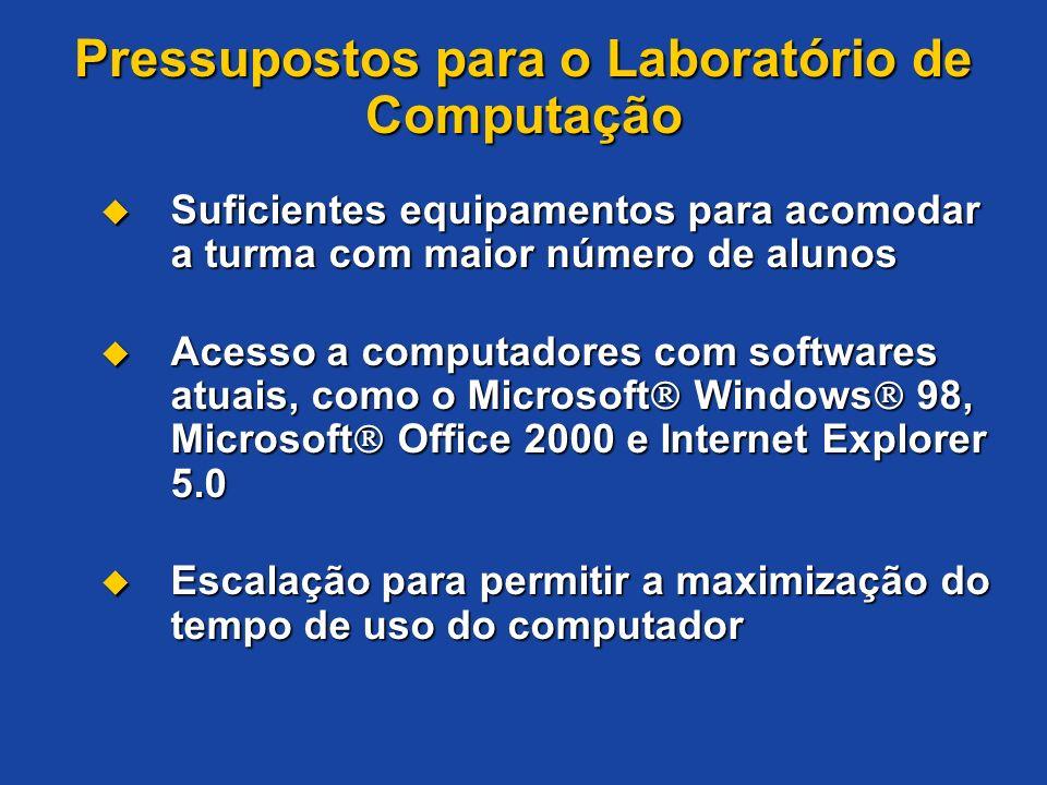 Pressupostos para o Laboratório de Computação