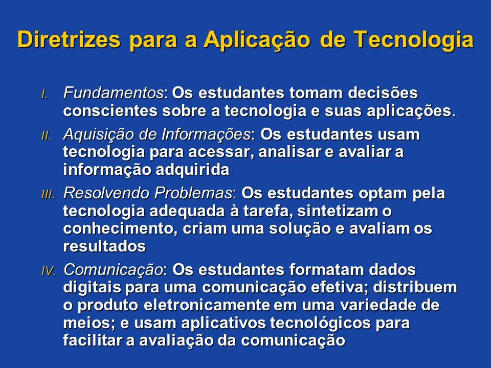 Diretrizes para a Aplicação de Tecnologia