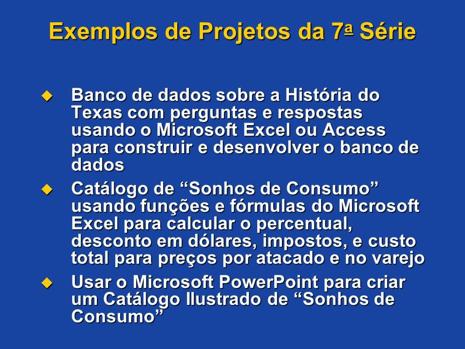 Exemplos de Projetos da 7a Série