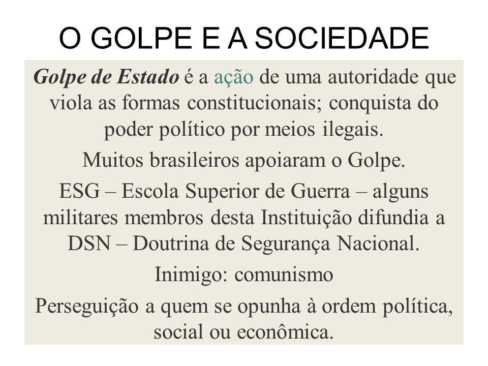 O GOLPE E A SOCIEDADE