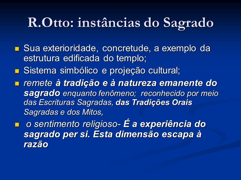 R.Otto: instâncias do Sagrado