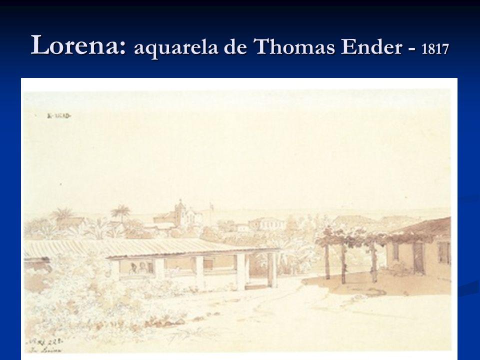 Lorena: aquarela de Thomas Ender - 1817
