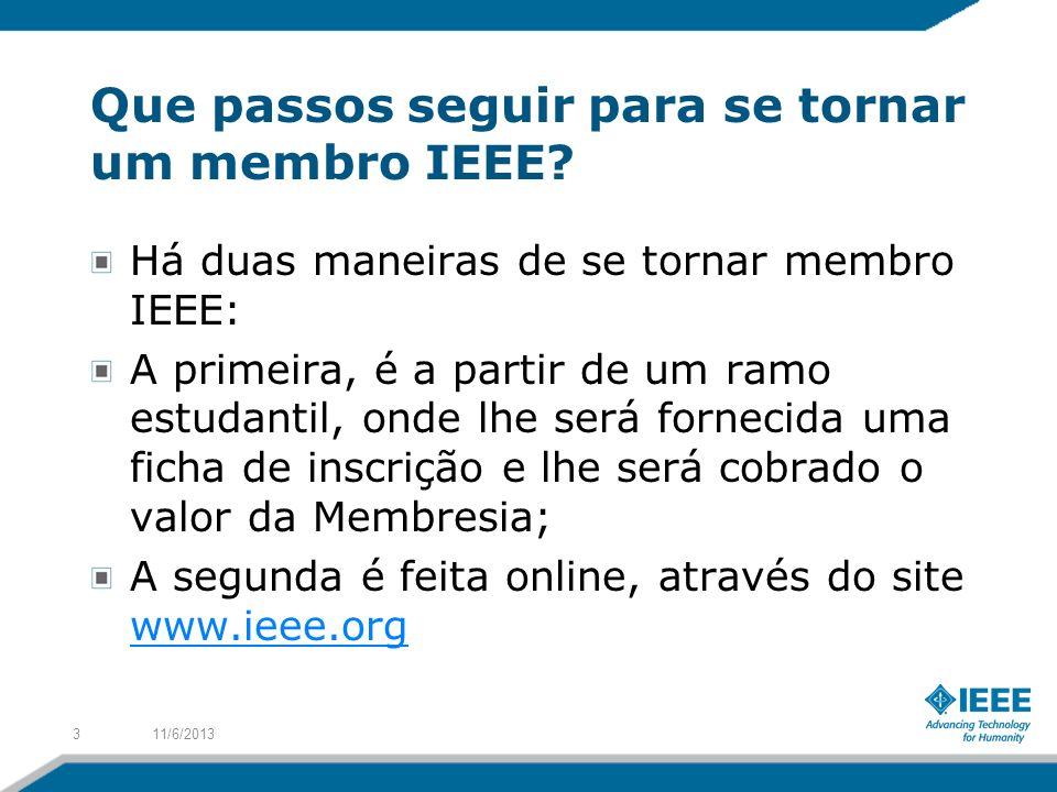 Que passos seguir para se tornar um membro IEEE