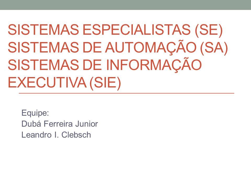 Equipe: Dubá Ferreira Junior Leandro I. Clebsch