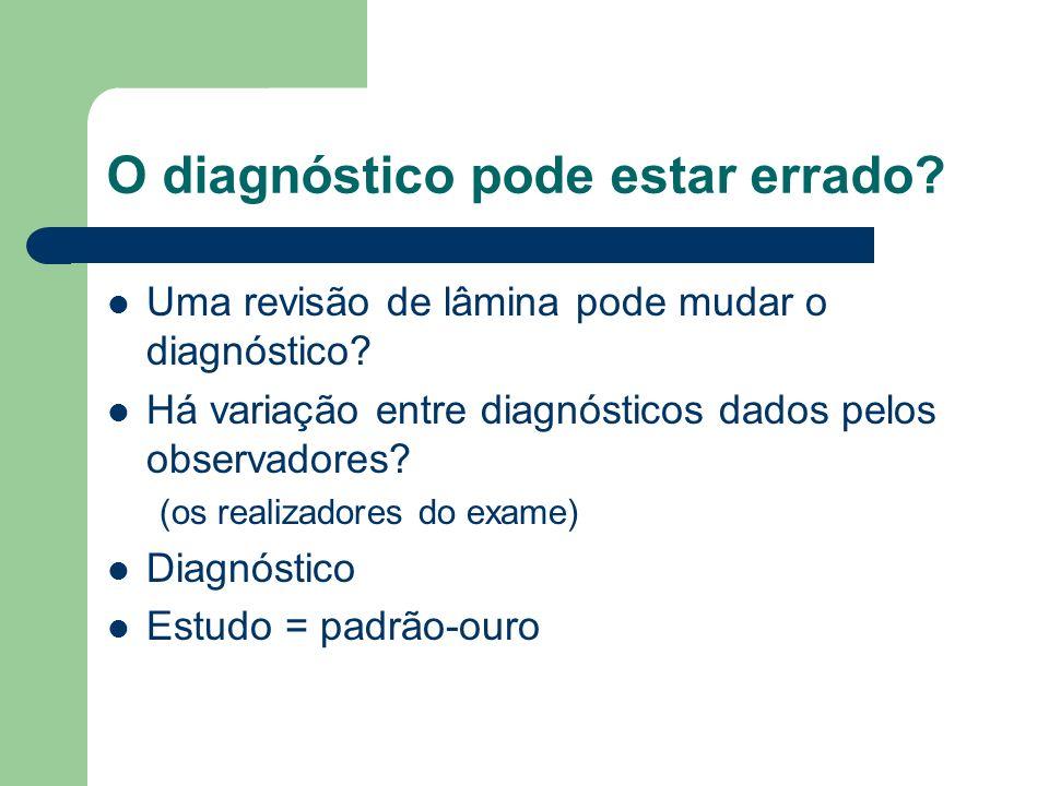 O diagnóstico pode estar errado