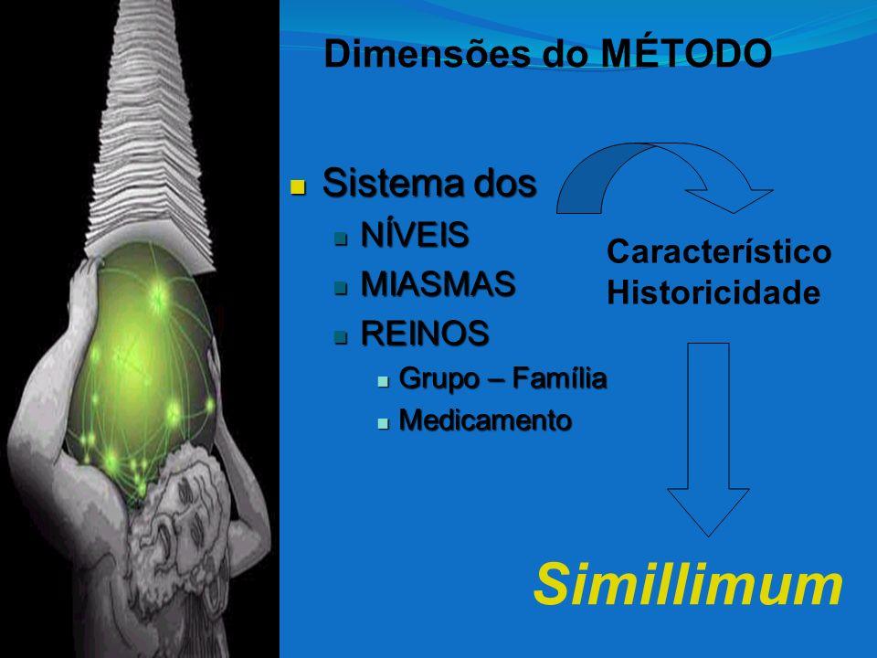 Simillimum Dimensões do MÉTODO Sistema dos NÍVEIS MIASMAS REINOS