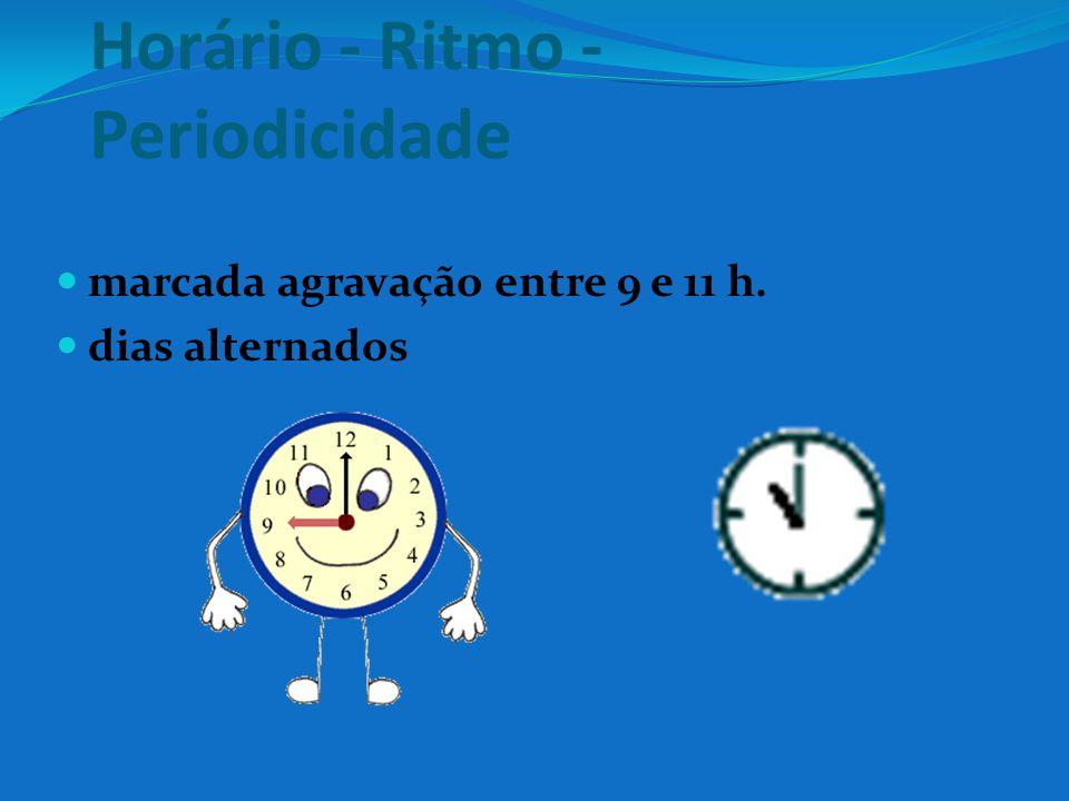 Horário - Ritmo - Periodicidade