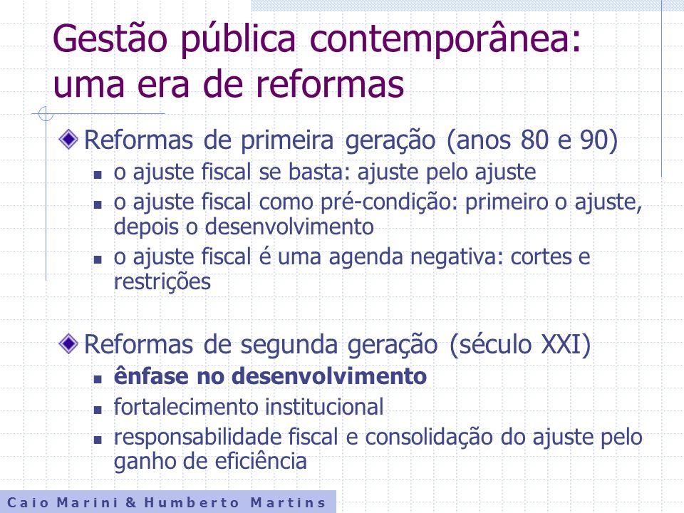 Gestão pública contemporânea: uma era de reformas