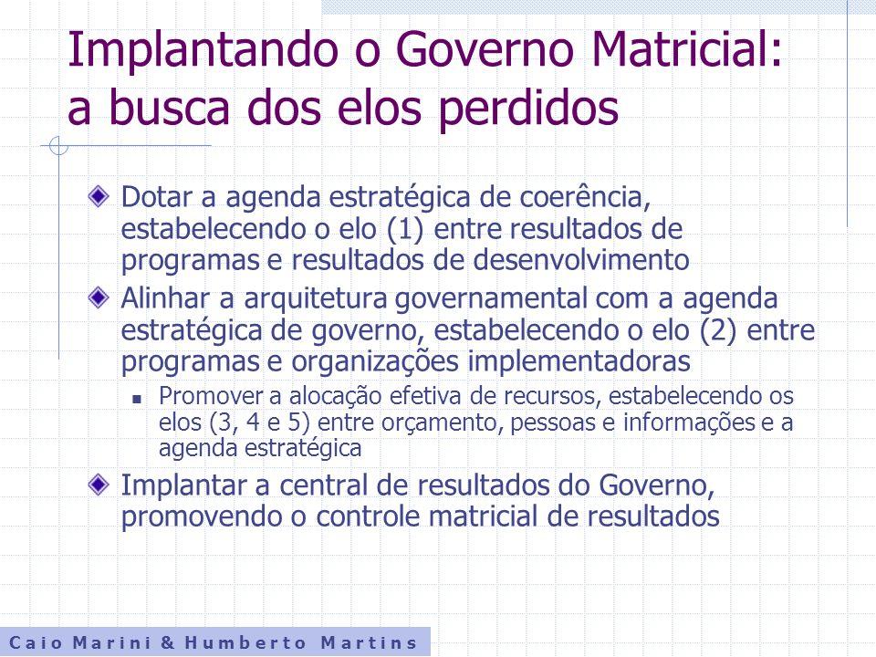 Implantando o Governo Matricial: a busca dos elos perdidos