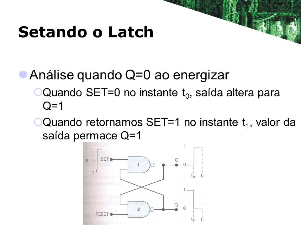Setando o Latch Análise quando Q=0 ao energizar