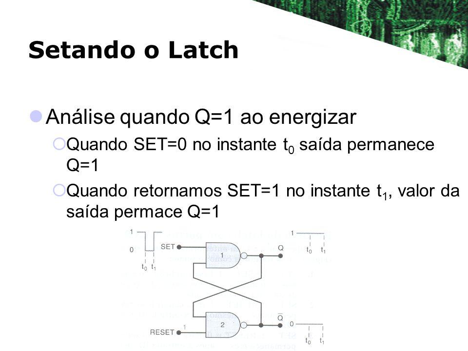 Setando o Latch Análise quando Q=1 ao energizar