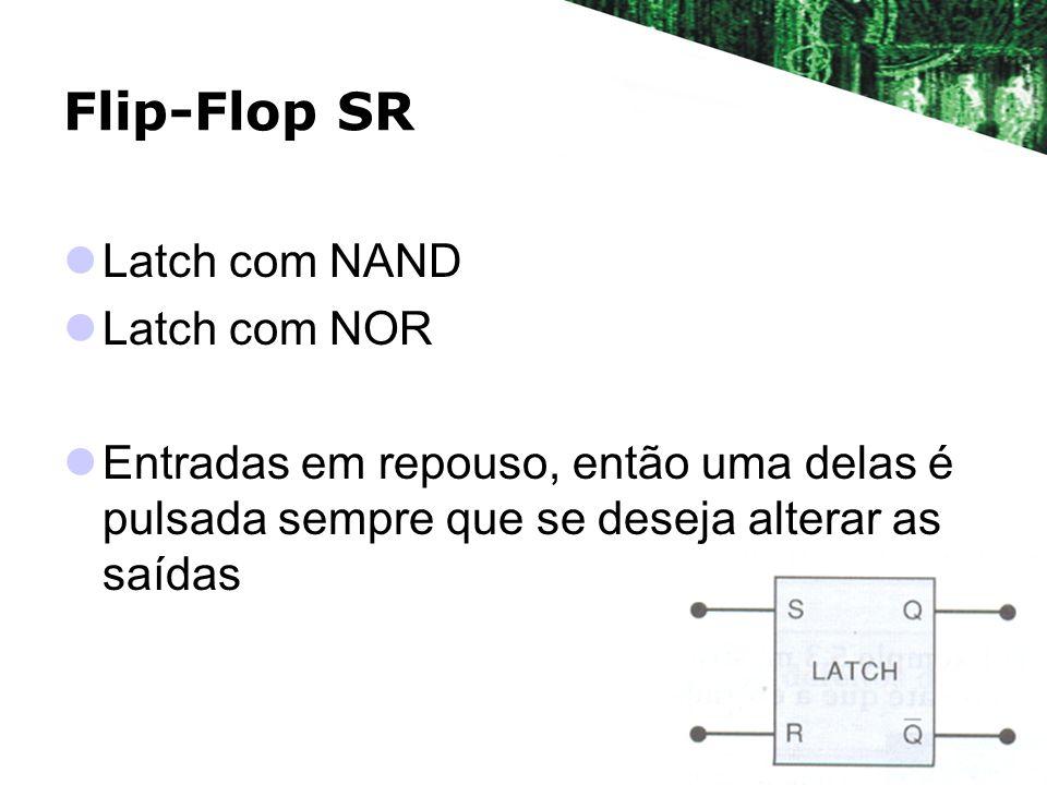 Flip-Flop SR Latch com NAND Latch com NOR